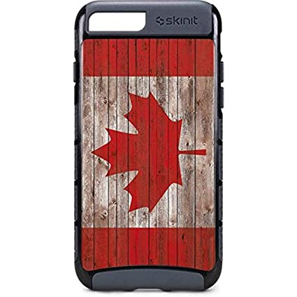 best sneakers 7d6ac 159b1 Countries of The World iPhone 8 Plus Case - Canadian Flag Dark Wood ...