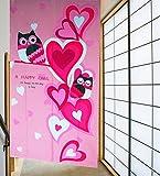 LifEast Children Bedroom Doorway Curtain Happy Owls Curtain Japanese Noren Style Panels (# 9)
