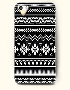 OOFIT Aztec Indian Chevron Zigzag Native American Pattern Hard Case for Apple iPhone 5 5S ( iPhone 5C Excluded ) Black Aztec Tribal Geometric Print