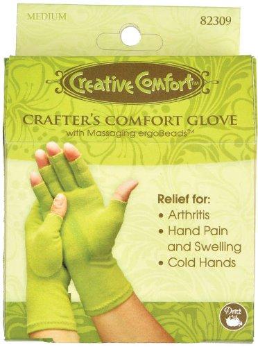 Creative Comfort Crafter's Comfort Gloves 1 Pair-Medium by Dritz