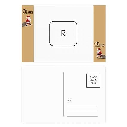 Tarjeta de agradecimiento con el símbolo del teclado R de ...