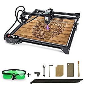 ORTUR Laser Master 2, Laser Engraver CNC, Laser Engraving Cutting Machine, DIY Laser Marking for Metal with 32-bit Motherboard LaserGRBL(LightBurn), 400x430mm Large Engraving Area (LU1-4) Arts, Crafts and Sewing