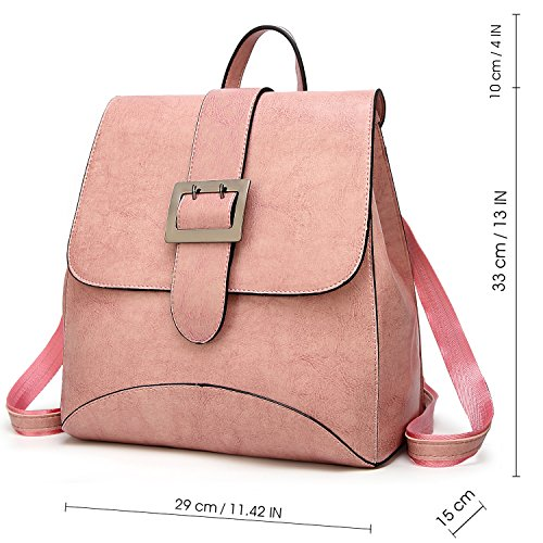 SiMYEER Women's Leather Backpack Purse Top Tote Bags Handbags Shoulder Bag School Casual Daypack for Girls by SiMYEER (Image #2)