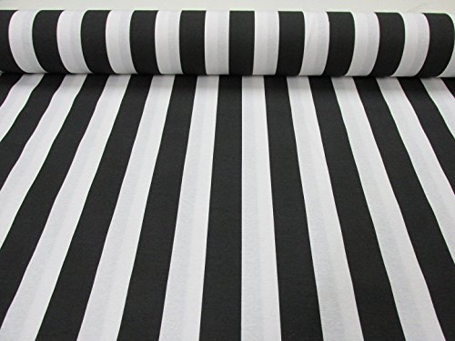 HomeBuy Black White Striped Fabric - Stripes Curtain Upholstery Material - 55 inches wide (sold by the - White Fabric Upholstery Stripe