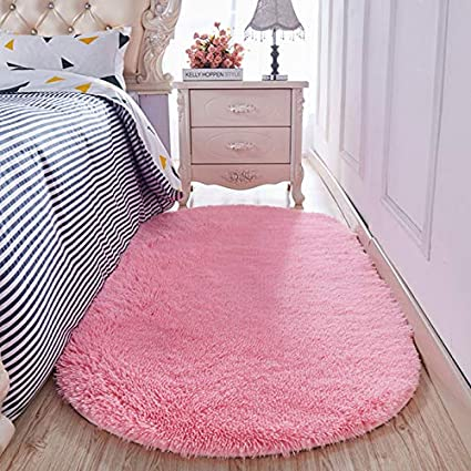 Amazon Com Yj Gwl High Pile Shaggy Pink Rugs For Girls Rooms