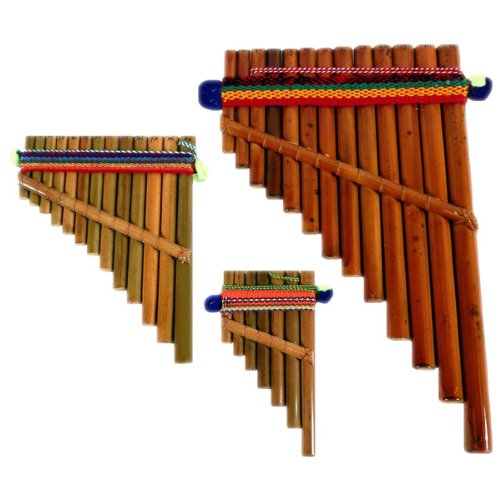 Pan Flute Set of Three Sizes Hand Made Peru Fair Trade
