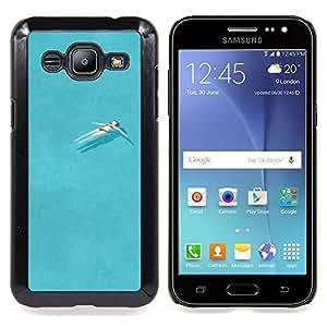 /Skull Market/ - Pretty Pool Swimming Ocean Relax For Samsung Galaxy J2 - Mano cubierta de la caja pintada de encargo de lujo -