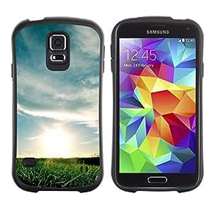 Paccase / Suave TPU GEL Caso Carcasa de Protección Funda para - Nature Sunset Fields - Samsung Galaxy S5 SM-G900
