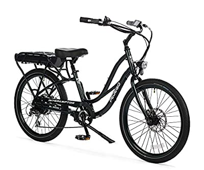 "Pedego Interceptor 24"" Step Thru Hunter Green with Black Balloon Package 48V 15Ah"