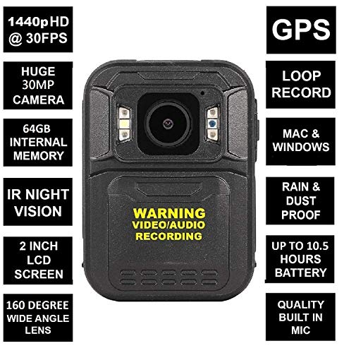 THE D5 MINI BODY CAMERA WITH H.264 & H.265 CODING - FULL HD 1440p @30fps & 30MP...