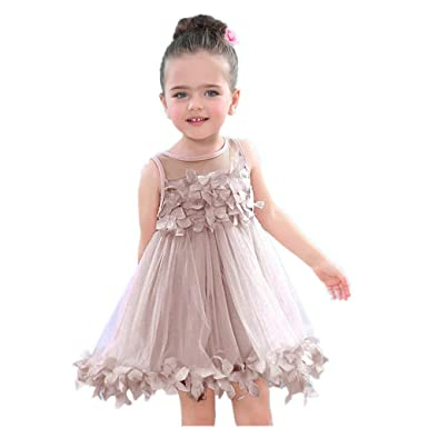1648ad7959 Amazon.com: Girls Tutu Dresses Infant Toddler Kids Baby Shirt Sleeveless  Applique Party Tops Mesh Princess Clothes: Clothing