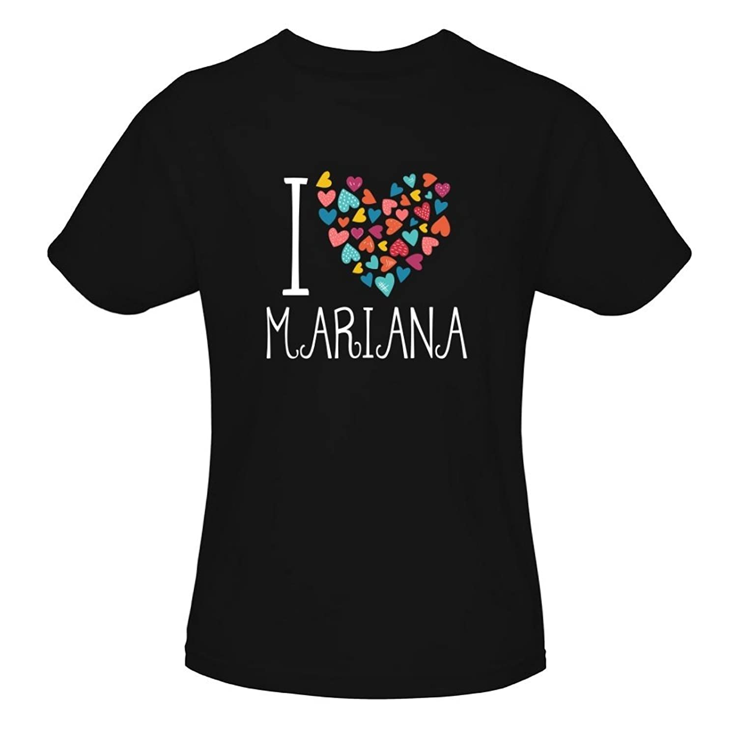 Idakoos I Love Mariana Colorful Hearts - Prénoms Féminins - T-Shirt Fille