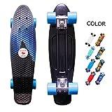 yotruth Penny Board Mini Cruiser Skateboard 22'' (Wolf king howl)