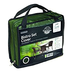 Gardman Premium Square Bistro Set Cover (Green) 5 Year Guarantee