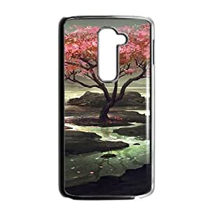 Beautiful river and peach tree scenery Phone Case for LG G2