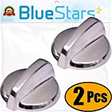 Ultra Durable WB03T10325 Range Knob Replacement Part by Blue Stars – Exact Fit For General Electric Ranges - PACK OF 2
