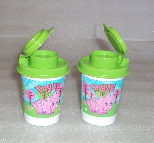 Tupperware Personal Size Dinosaur Print Midgets Salt and Pepper Shakers