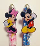 Disney Mickey & Minnie Mouse 2 pcs. Pink & Blue Ball Point Pen Set
