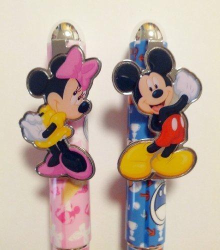 Mickey Autograph (Disney Mickey & Minnie Mouse 2 pcs. Pink & Blue Ball Point Pen Set)