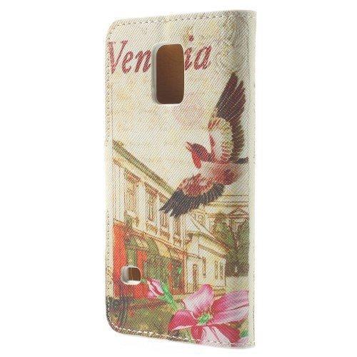 del teléfono celular de la caja de Shell del tirón de la cubierta del caso de negocios Samsung Galaxy Mini S5 stand / SM-G800 atril Venecia