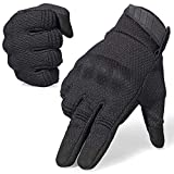 AXBXCX Breathable Flexible Touch Screen Full Finger Motorcycles Gloves for Men Running Airsoft Paintball Driving ATV Motocross Climbing Camping...