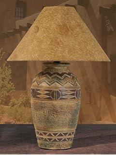 Southwest pattern paprika shade table lamp amazon anthony california southwest table lamp 30 mozeypictures Gallery