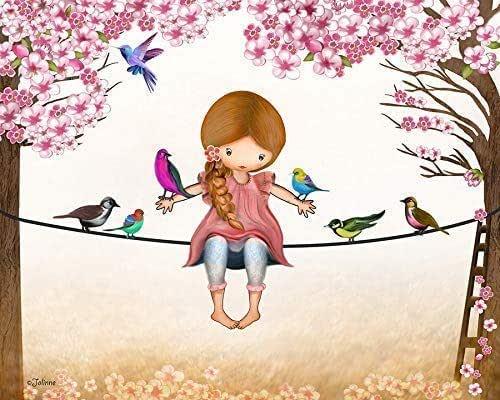 Amazon.com: Girls Room Wall Art Poster Nursery Decoration ...