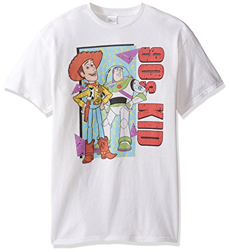 Disney 90s Costumes (Disney Men's Big and Tall Toy Story 90s Kid T-Shirt, White, 3XL)