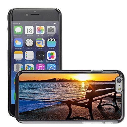 """Stampato Modelli Hard plastica Custodie indietro Case Cover pelle protettiva Per // M00421630 Banc lac Sunset // Apple iPhone 6 4.7"""""""