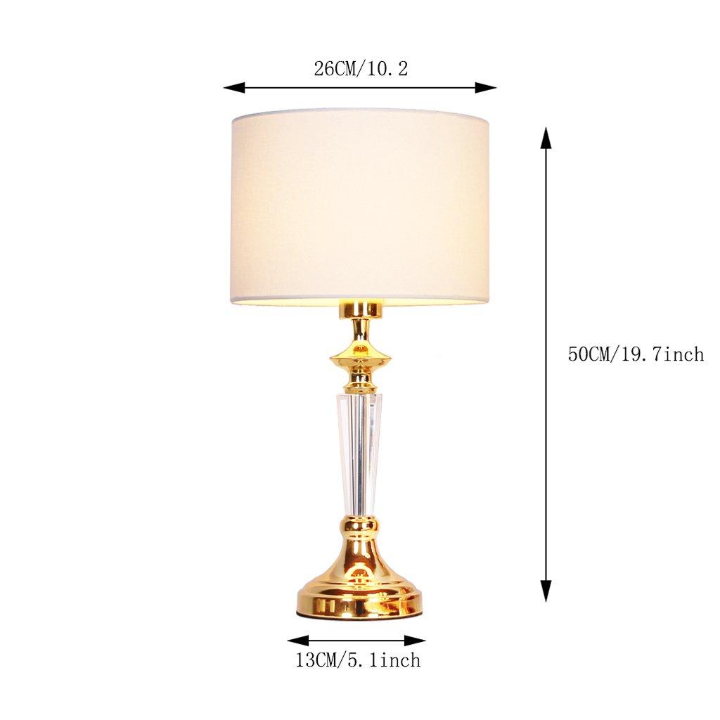 Europ/äische Luxus-Kristall Tischlampe SYAODU Schlafzimmer Nachttischlampe Gold Mode kreative Dekoration Wohnzimmer Hotel Beleuchtung