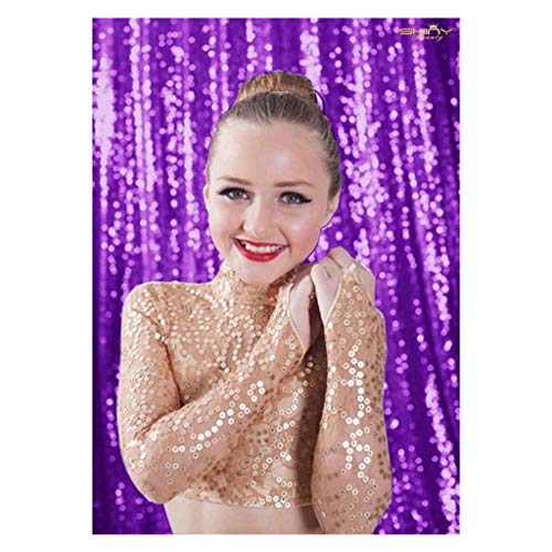 ShinyBeauty Sequin Backdrop 4ftx6ft-Purple-Backdrop Photography and Photo Booth Backdrop for Wedding, Party, Photography, Curtain, Birthday, Christmas, Prom Decoration