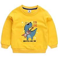 Surwin Patrón de Bebé Dinosaurio Sudadera Cuello Redondo para niños Unisex Jersey Manga Larga Algodón Suave Casual…