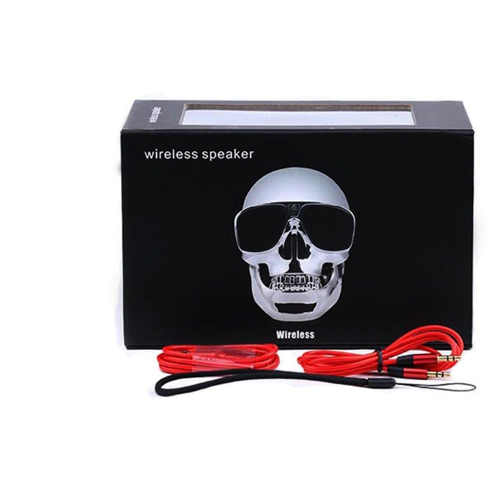 RingRingshop Skull Head Speaker Portable Bluetooth Speakers 5W Output Bass Stereo with DSP Compatible for Desktop PC/Laptop/Mobile Phone/MP3/MP4 Player for Party Traveling&Outdoor