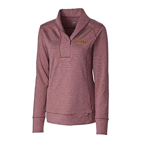 (Cutter & Buck NCAA Arizona State Sun Devils Genre Polo Shirt, X-Small, Bordeaux Heather)