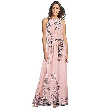 2211df597f8 Summer Women s Fashion Boho Long Maxi Dress Sleeveless Lady Beach Dresses  Sundress Party Dress (XL