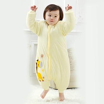 LLX Sacos De Dormir para Bebés Niño Infantíl Ropa para Dormi,Material De Algodón Diseño De Pierna Partida, Cálido Y Confortable,80cm/0-12 Meses,B-M: ...