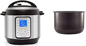 Instant Pot Duo Plus 9-in-1 Electric Pressure Cooker, Sterilizer, Slow Cooker, Rice Cooker, 6 Quart, 15 One-Touch Programs & Ceramic Non-Stick Interior Coated Inner Cooking Pot - 6 Quart