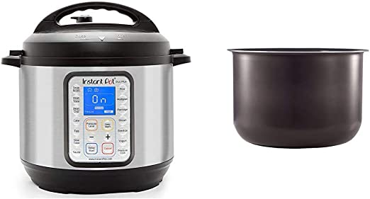 Amazon Com Instant Pot Duo Plus 9 In 1 Electric Pressure Cooker Sterilizer Slow Cooker Rice Cooker 6 Quart 15 One Touch Programs Ceramic Non Stick Interior Coated Inner Cooking Pot 6 Quart Kitchen