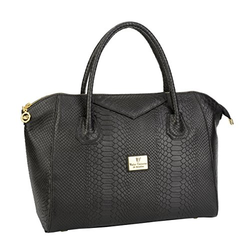 Walter Valentino - Tote Bag Cowhide Black For Black Women