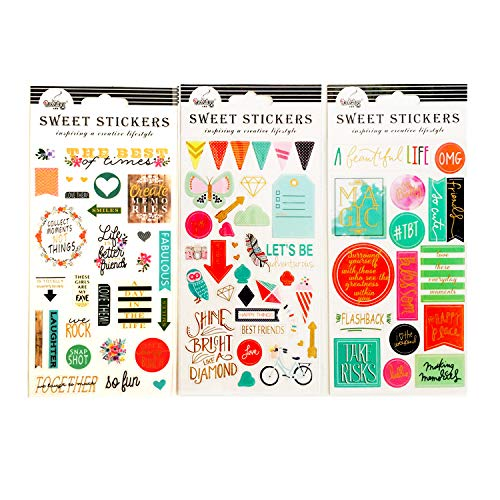 Gywantt Happy Planner Stickers,Law of Attraction Planner 2019 Passion Planner Stickers for Monthly, Weekly & Daily Planners, Journals, Notebooks & Calendars(3 Set) (Best Law Of Attraction Blogs)