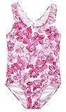 Alove Girls One Piece Swimsuit Floral Print Bathing Suit Racerback Swimwear