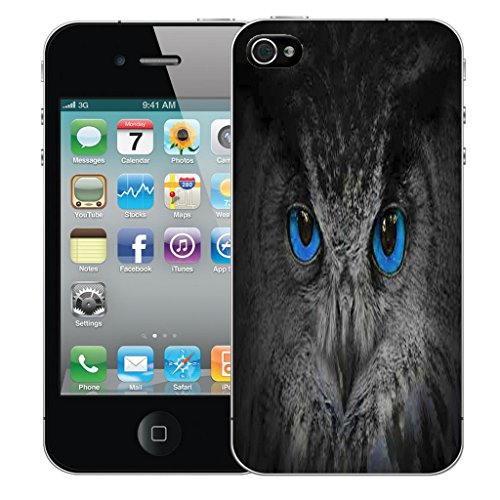 Mobile Case Mate iPhone 5 Silicone Coque couverture case cover Pare-chocs + STYLET - Mysterious Owl pattern (SILICON)