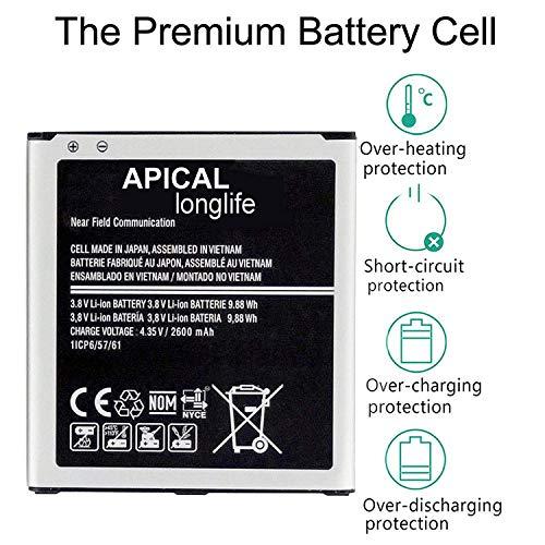 Replacement Battery Compatible for Galaxy Grand Prime Battery EB-BG530BBU SM-G530 J5 (2600mAh)