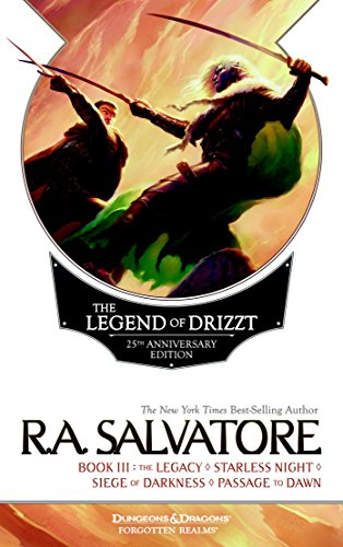 Book cover from The Legend of Drizzt 25th Anniversary Edition, Book III by R. A. Salvatore