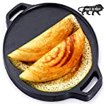 urbanhouse Pre-Seasoned Cast Iron Dosa Tawa 12 inches, Perfect for Cooking on Gas, Induction and Electric Cooktops…