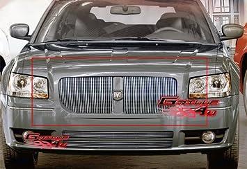APS Compatible with 2005-2007 Dodge Magnum Except SRT8 Black Billet Grille Grill Insert