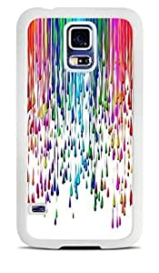 Paint Splat Rainbow colorful White Silicone Case for Samsung Galaxy S5