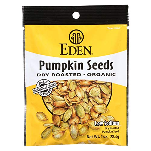Eden Foods Organic Dry Roasted and Roasted Spicy Pumpkin Seeds, 1 Ounce -- 12 per case.