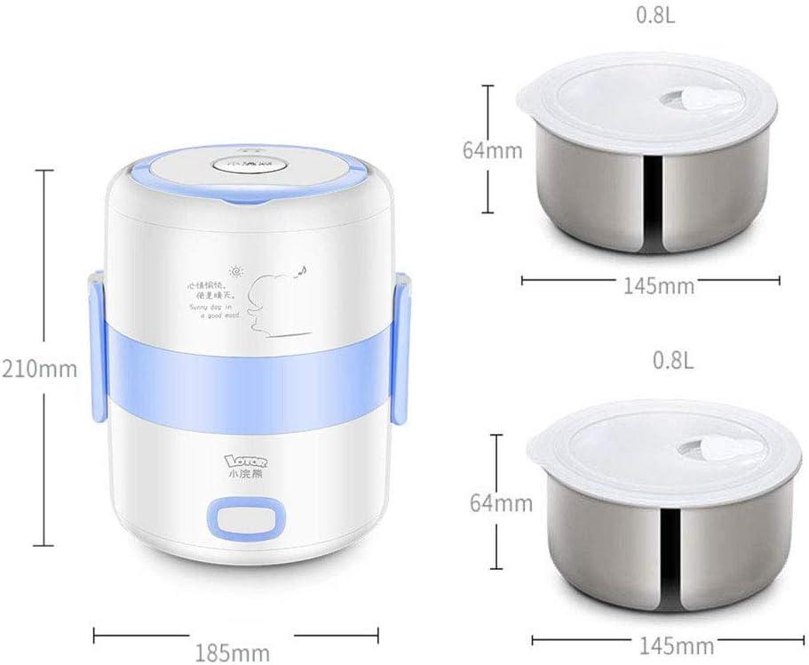 YANWE Robot De Cocina, MultifuncióN Olla Arrocera PortáTil, Caja De CalefaccióN De Acero Inoxidable(1.6L),Pink: Amazon.es: Hogar
