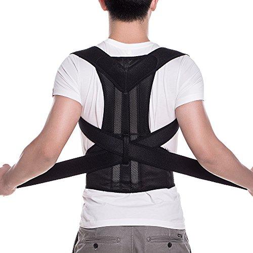 FITTOO Adjustable Neoprene Posture Corrector Back Shoulder Lumbar Waist...